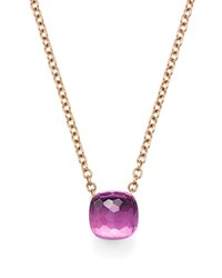 Pomellato Nudo Necklace With Amethyst In 18K Rose And White Gold Purple Rose