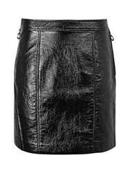 Marc By Marc Jacobs Coated Crinkle Faux Leather Skirt Black