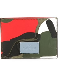 Valentino Garavani Camouflage Card Holder