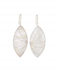 Lana Isabella Large Mother Of Pearl Marquise Drop Earrings Multi