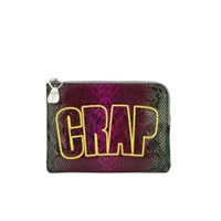 House Of Holland Crap Pouch Leather Clutch Bag Multi Snake