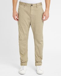 G Star Beige Bronson Cuffed Elasticated Ankle Chinos