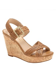 Arturo Chiang Pameila Vachetta Leather Wedge Sandals Natural