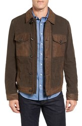Timberland Men's Mount Davis Mixed Media Waxed Cotton Jacket
