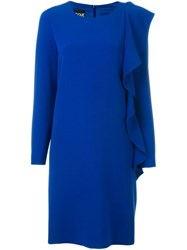 Boutique Moschino Ruched Sleeve Design Dress Blue