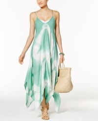 Raviya Tie Dye Handkerchief Maxi Dress Cover Up Women's Swimsuit Light Green