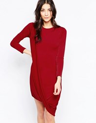 Wal G Dress With Wrap Hem Red