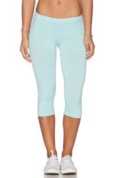 Bobi Cotton Lycra Crop Legging Blue