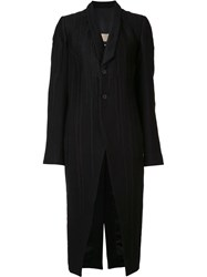 Rick Owens Tusk Embroidered Coat Black