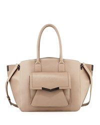 Time's Arrow Jo Large Leather Tote Bag Oyster