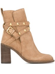 See By Chloe 'Janis' High Boots Nude Neutrals
