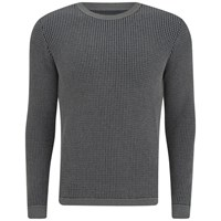 Folk Men's Crew Neck Knit Grey Navy