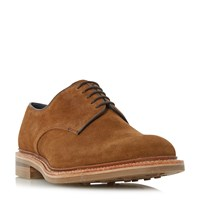 Loake Rowe Suede Round Toe Derby Shoes Tan