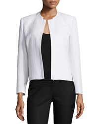 Lafayette 148 New York Marcy Zip Front Short Jacket White Women's