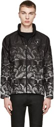Marcelo Burlon Black And Green Lamborghini Snake Jacket