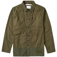 White Mountaineering Military Shirt Jacket Green