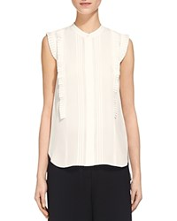 Whistles Pleated Shirt White