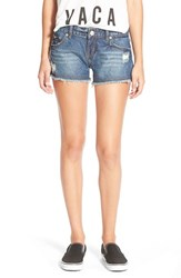 Junior Women's Rip Curl 'Wildhorse' Denim Shorts Aged Indigo
