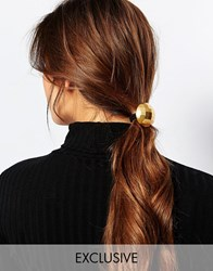 Designsix Textured Geo Circle Hairband Gold