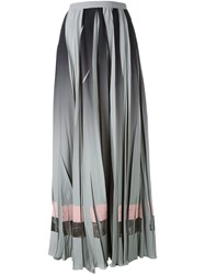 Golden Goose Deluxe Brand Pleated Maxi Skirt Grey