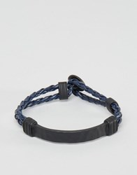 Icon Brand Woven Bracelet In Navy Navy