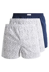 Pier One 3 Pack Boxer Shorts White Navy