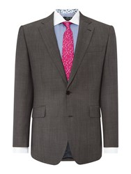 New And Lingwood Frockland Plain Tailored Fit Suit Jacket Grey