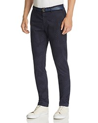 Scotch And Soda Stuart Check Print Slim Fit Chinos Combo