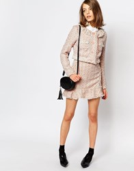 Sister Jane Pink Lemonade Tweed Skirt Co Ord With Frill Nude