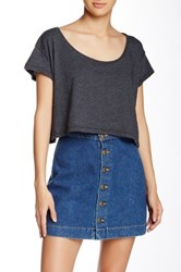 American Apparel Loose Crop Top Black