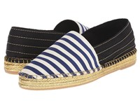 Marc Jacobs Sienna Flat Espadrille Navy White Women's Flat Shoes Blue