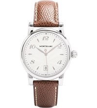 Montblanc 108762 Star Stainless Steel And Leather Watch
