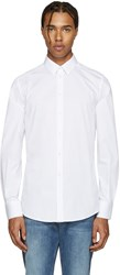Dolce And Gabbana White Poplin Gold Shirt