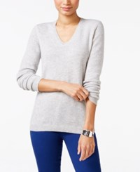 Charter Club Cashmere V Neck Sweater Only At Macy's 18 Colors Available Heather Crystal