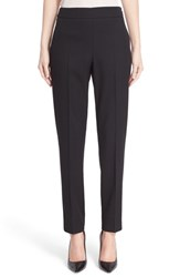 Women's Oscar De La Renta Stretch Wool Straight Leg Pants