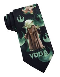 Star Wars Master Yoda Tie Charcoal