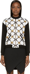 Versus Black And Gold Lion Coin Print Bomber