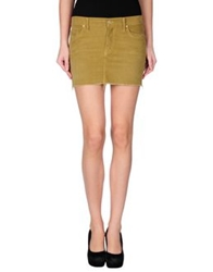 Mother Mini Skirts Military Green