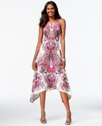 Inc International Concepts Petite Printed Keyhole Asymmetrical Hem Maxi Dress Only At Macy's Imperial Dynasty
