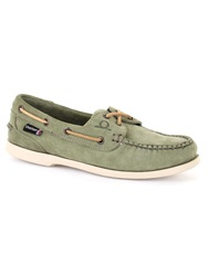 Chatham Heather G2 Kudu Leather Boat Shoes Green