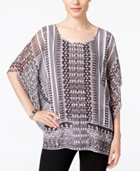 Jm Collection Printed Butterfly Sleeve Top Only At Macy's Open Adventure