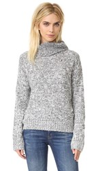 J.O.A. Marled Turtleneck Sweater Heather Grey