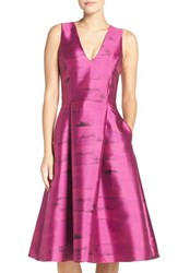 Sachin Babi Women's And Noir 'Morgan' Jacquard Fit And Flare Dress Pink Topaz