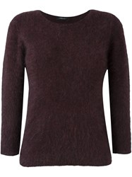 Roberto Collina Three Quarter Sleeve Sweater Pink And Purple