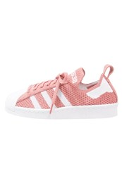 Adidas Originals Superstar 80S Primeknit Trainers Raw Pink White