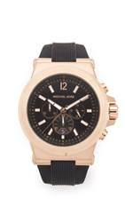 Michael Kors Large Dylan Watch Black Rose Gold