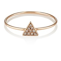 Jennifer Meyer Women's White Diamond Triangle Ring No Color