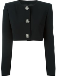 Fausto Puglisi Three Button Fitted Jacket Black