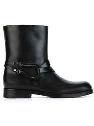 Santoni Motorcycle Boots Black