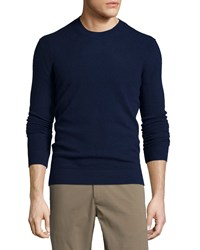 Theory Vetel Cashmere Long Sleeve Sweater Navy